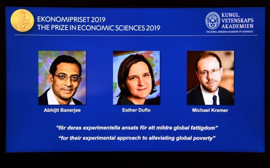 US trio win Nobel Economics Prize for work on poverty
