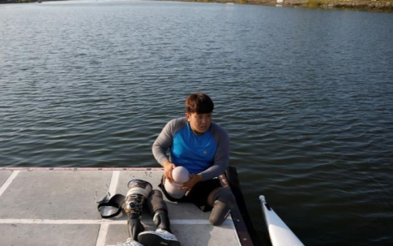 S. Korean soldier who lost legs to landmine aims for Paralympic gold
