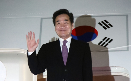 S. Korean PM leaves for Japan to attend emperor's enthronement event, meet Abe