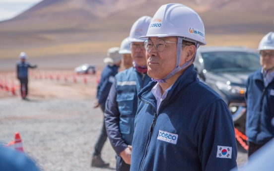 Posco chief visits Argentina to inspect lithium mining site