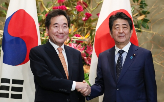 Lee, Abe agree on need to improve ties, but basic stance remains unchanged