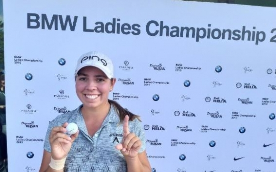 US golfer Gillman gets 1st hole-in-one at LPGA event in S. Korea