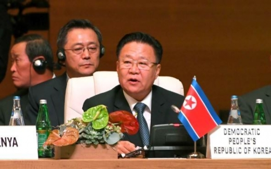 N. Korea's No. 2 urges US to drop hostile policy to move nuclear talks forward