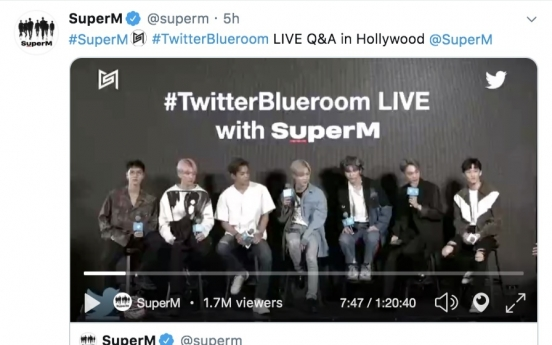 SuperM breaks Twitter Blueroom record with over 2 million viewers