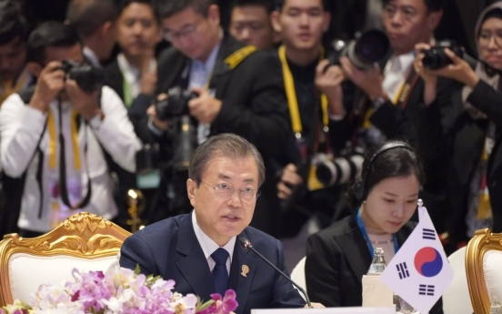 Moon requests ASEAN's support for Korea peace process in Bangkok summit
