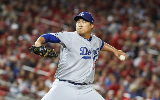 S. Korean pitcher Ryu Hyun-jin nominated for National League Cy Young Award