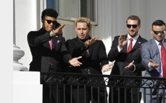 White House welcomes World Series champs to rendition of 'Baby Shark'