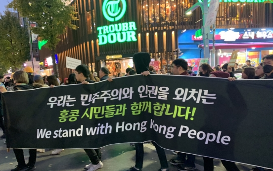 Hong Kong activist seeks solidarity for democracy