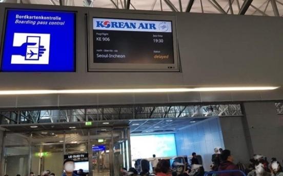Korean Air flight delayed after collision at Frankfurt Airport