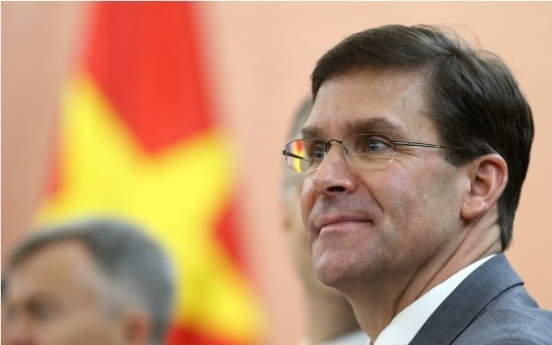 Esper calls on S. Korea, Japan to show leadership to resolve dispute