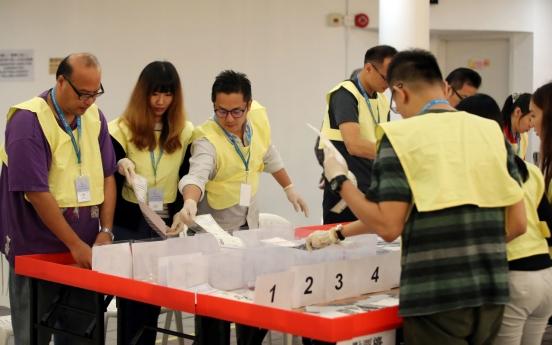 Hong Kong democracy camp heads for stunning polls win: local media