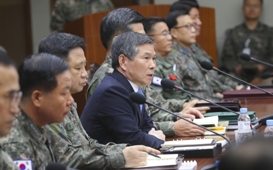 Defense chief calls for firm readiness posture against N. Korea