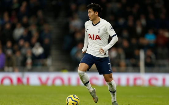 Son Heung-min named top S. Korean athlete in 3rd straight annual poll