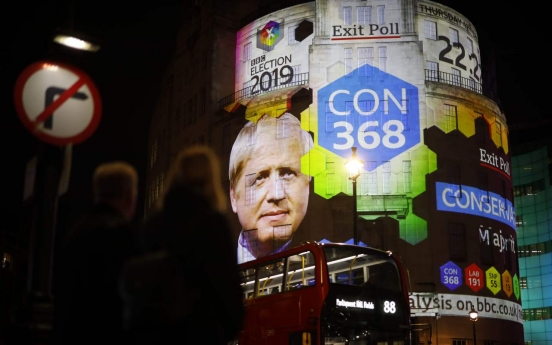 UK exit poll suggests majority for Johnson's Conservatives