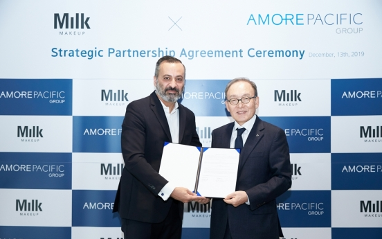 Amorepacific partners with US vegan cosmetics firm Milk Makeup