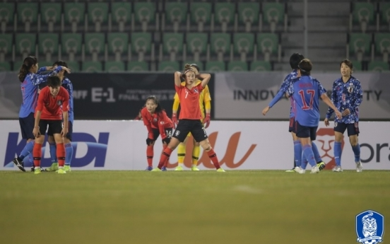 S. Korea finish second to Japan at E. Asian women's football tournament