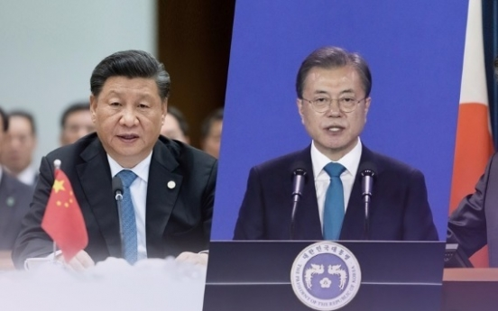Moon to hold bilateral summit with Abe in China on Tuesday : Cheong Wa Dae