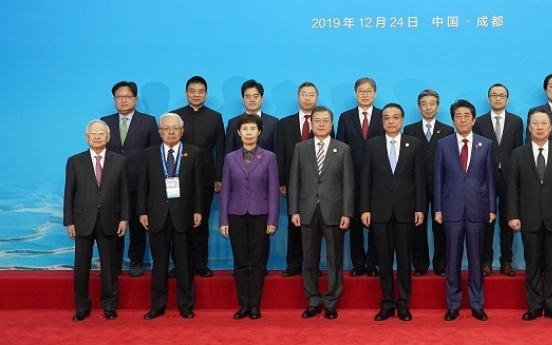 Business leaders of Korea, Japan, China call for free trade, economic integration