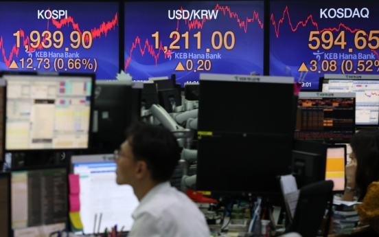 Seoul stocks open lower, tech rally continues