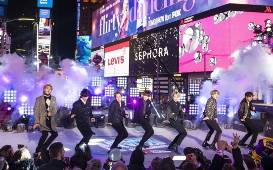 BTS perform at Times Square on New Year's eve