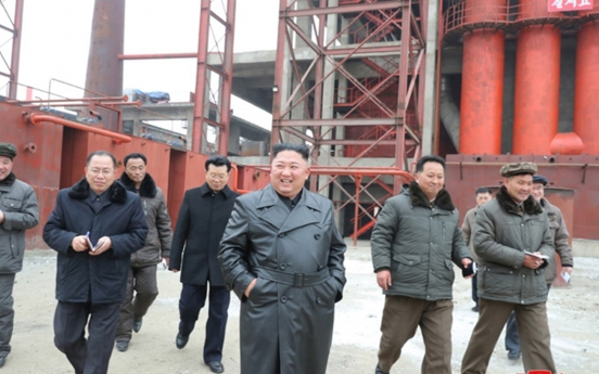 N. Korean leader visits construction site in first 'field guidance' this year