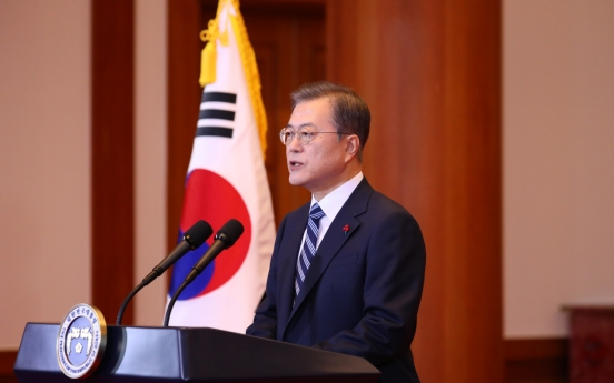 Moon pledges to continue reform drive, improve ties with neighbors