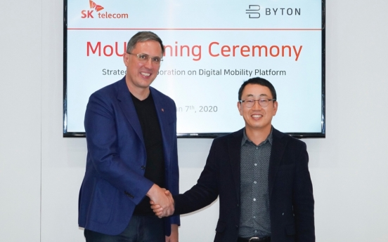 [CES 2020] SK Telecom partners with HK-based EV brand Byton