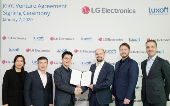[CES 2020] LG, Luxoft to set up JV for in-vehicle infotainment