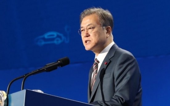 Moon says no letup in 'peaceful Korea' bid based on alliance with US