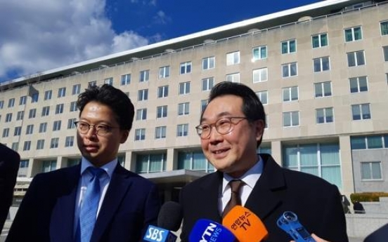 S. Korea, US agree to closely coordinate on inter-Korean projects: nuclear envoy