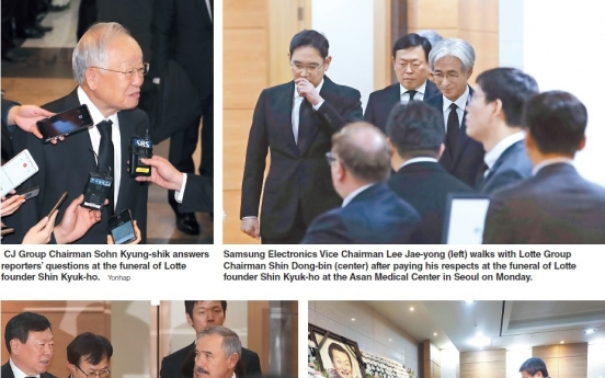 Business, political leaders mourn Lotte founder