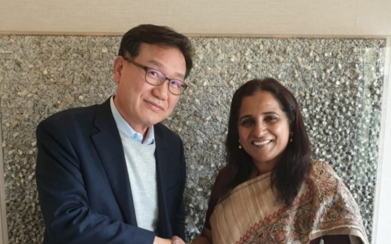 [Photo news] Herald CEO meets Indian envoy