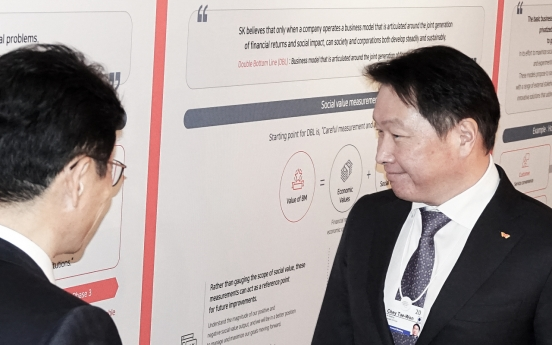 SK Chairman Chey Tae-won advocates social value measurement model in Davos