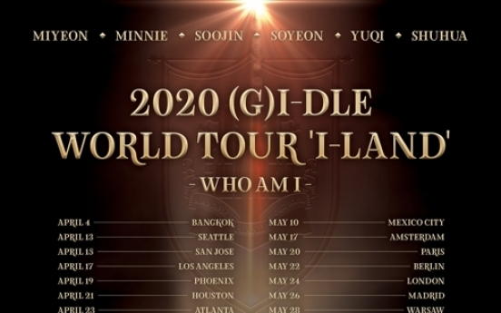 Girl group (G)I-dle to go on first world tour in April