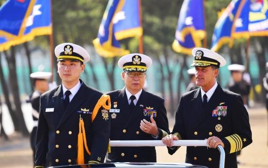 S. Korean JCS chairman, US Pacific Fleet commander vow cooperation for peace efforts