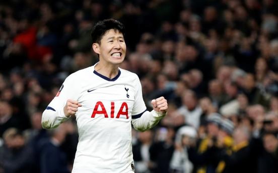 손흥민 시즌 14호골 폭발…4G 연속골로 토트넘 FA컵 16강 견인(종합)