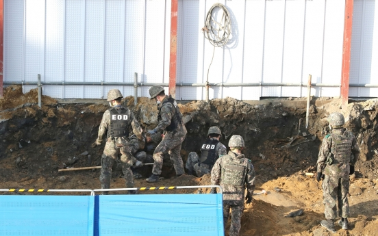Artillery shells found at construction site