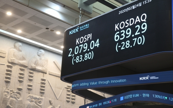 Hit by COVID-19 fears, Seoul stocks plunge
