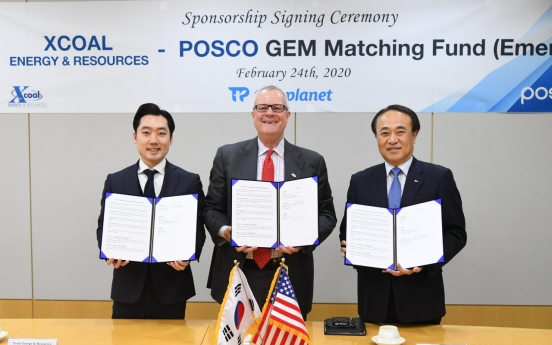 Posco creates social project fund with US' Xcoal