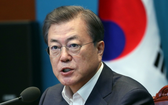 Moon calls for focus on battling COVID-19, economic impact