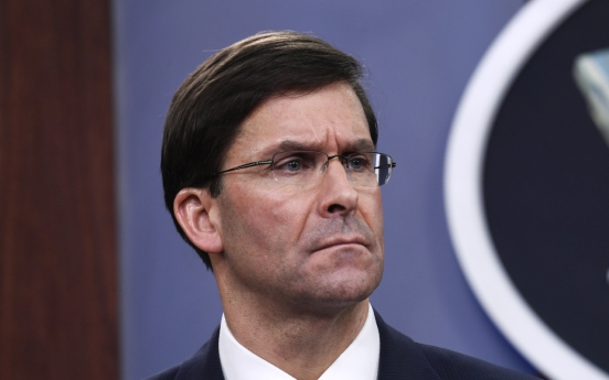 Esper urges S. Korea to pay more for combined defense