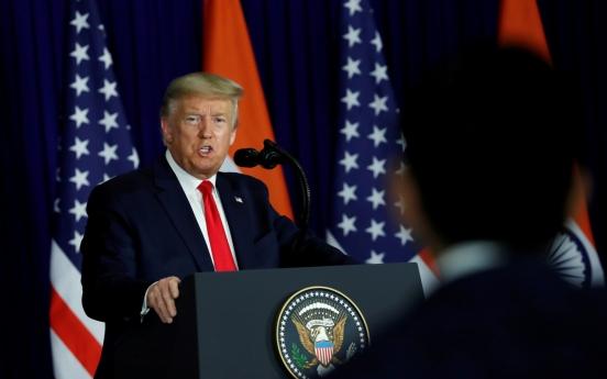 Trump says he 'spoke to' S. Korea about coronavirus