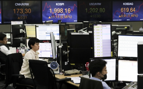 Kospi recovers 2,000-mark over Fed rate cut remark