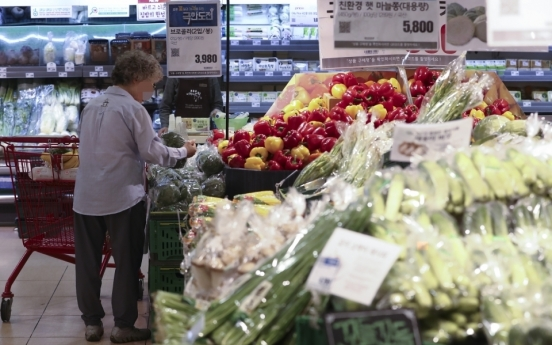 Korea's consumer prices up 1.1% on-year in Feb.