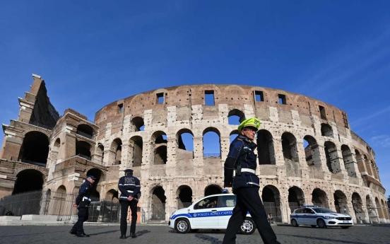 '황량한 콜로세움' 한번도 경험하지 못한 로마의 일상