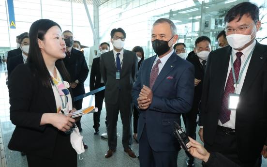 Harris praises S. Korea's anti-coronavirus airport