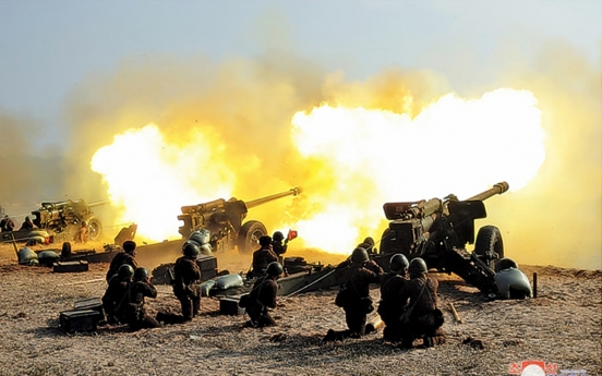 N. Korean leader attends artillery fire competition