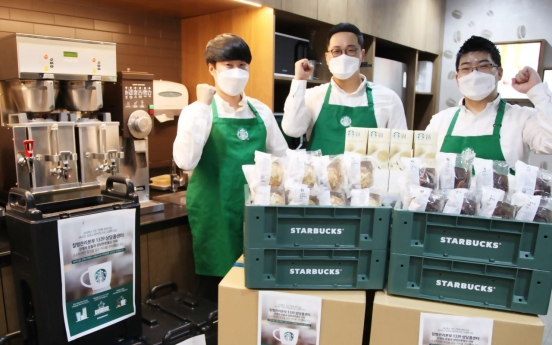 Starbucks Korea extends coffee donation to hotline workers until end-March