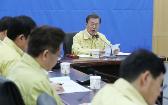 Moon calls for closer cooperation among local governments in COVID-19 fight