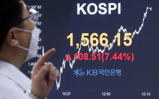 Seoul stocks rebound 7% on currency swap deal with US